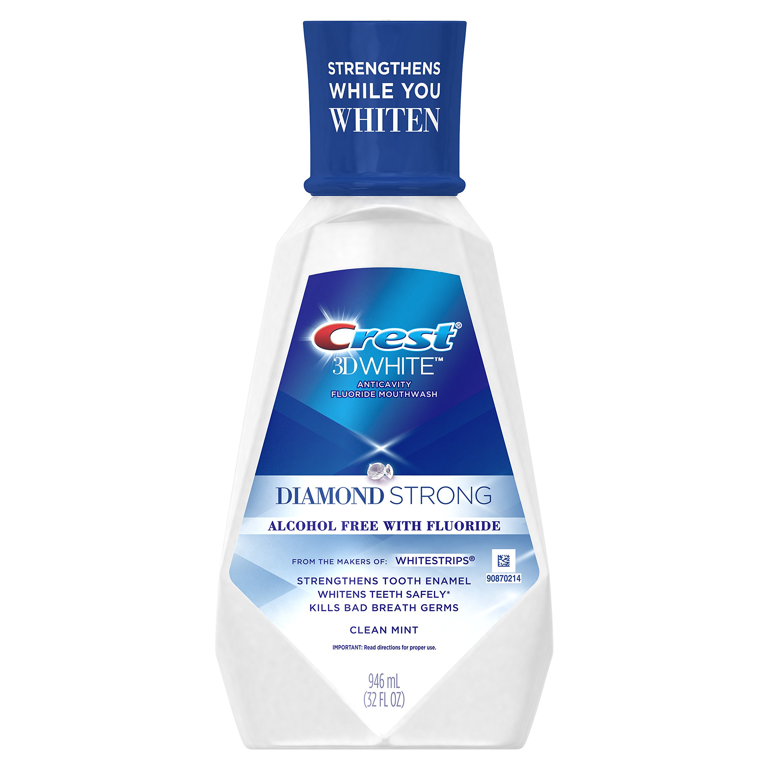 Crest 3D White Mint Mouthwash, 32 Fluid Ounce