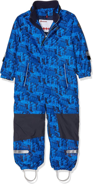 LEGO Wear boys Tec Fleece-lined Lego Print Waterproof /& Windproof Snowsuit With Detachable Hood