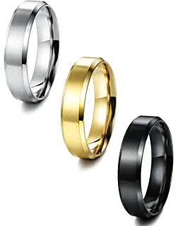 Jstyle Stainless Steel Rings for Men Wedding Ring Cool Simple Band 8