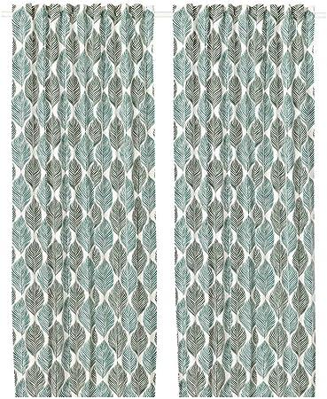 Ikea Fjaderklint 503.690.95 - Cortinas (1 par), color blanco y ...
