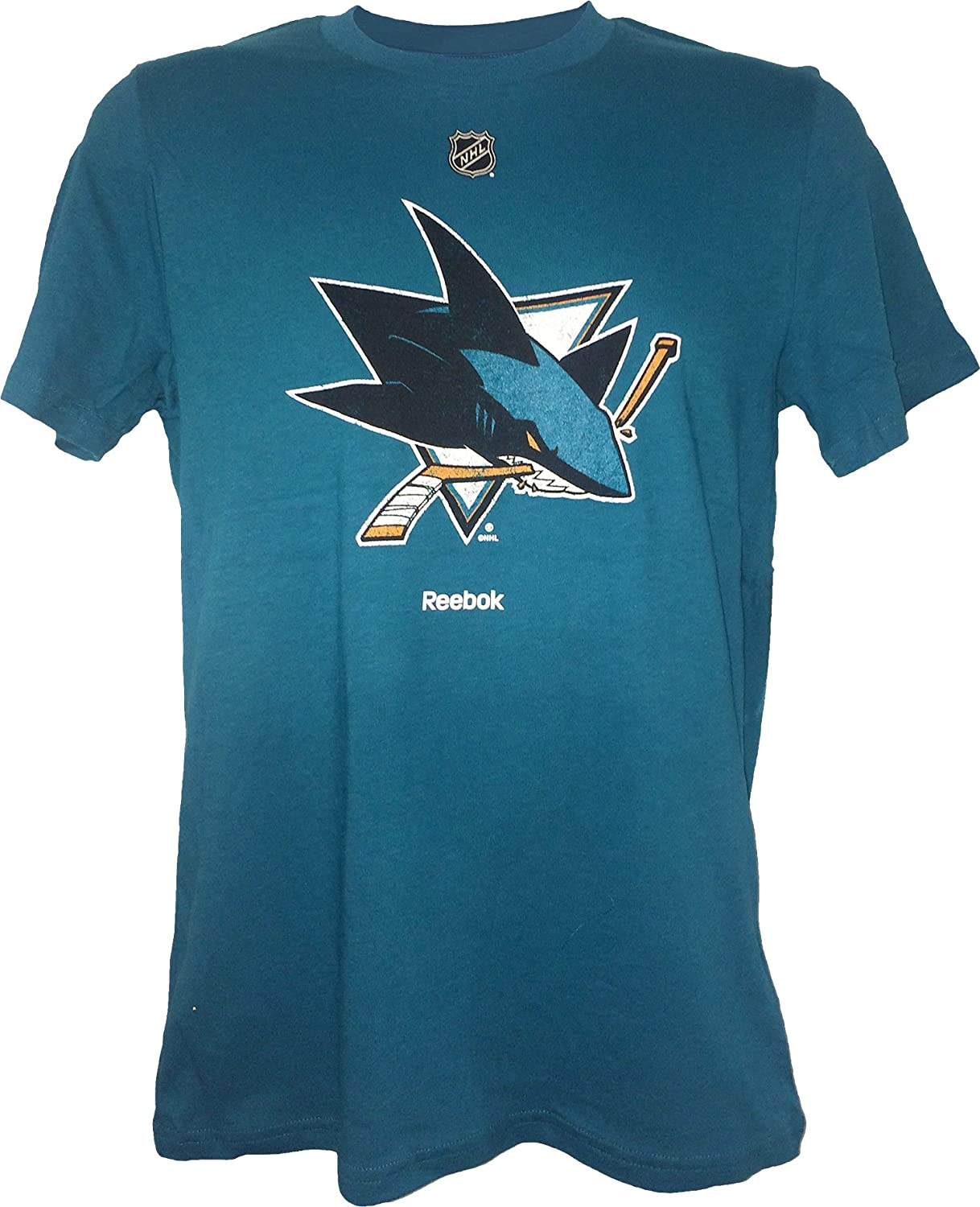 """San Jose Sharks Youth Teal Primary""""Distressed"""" Logo T Shirt"""