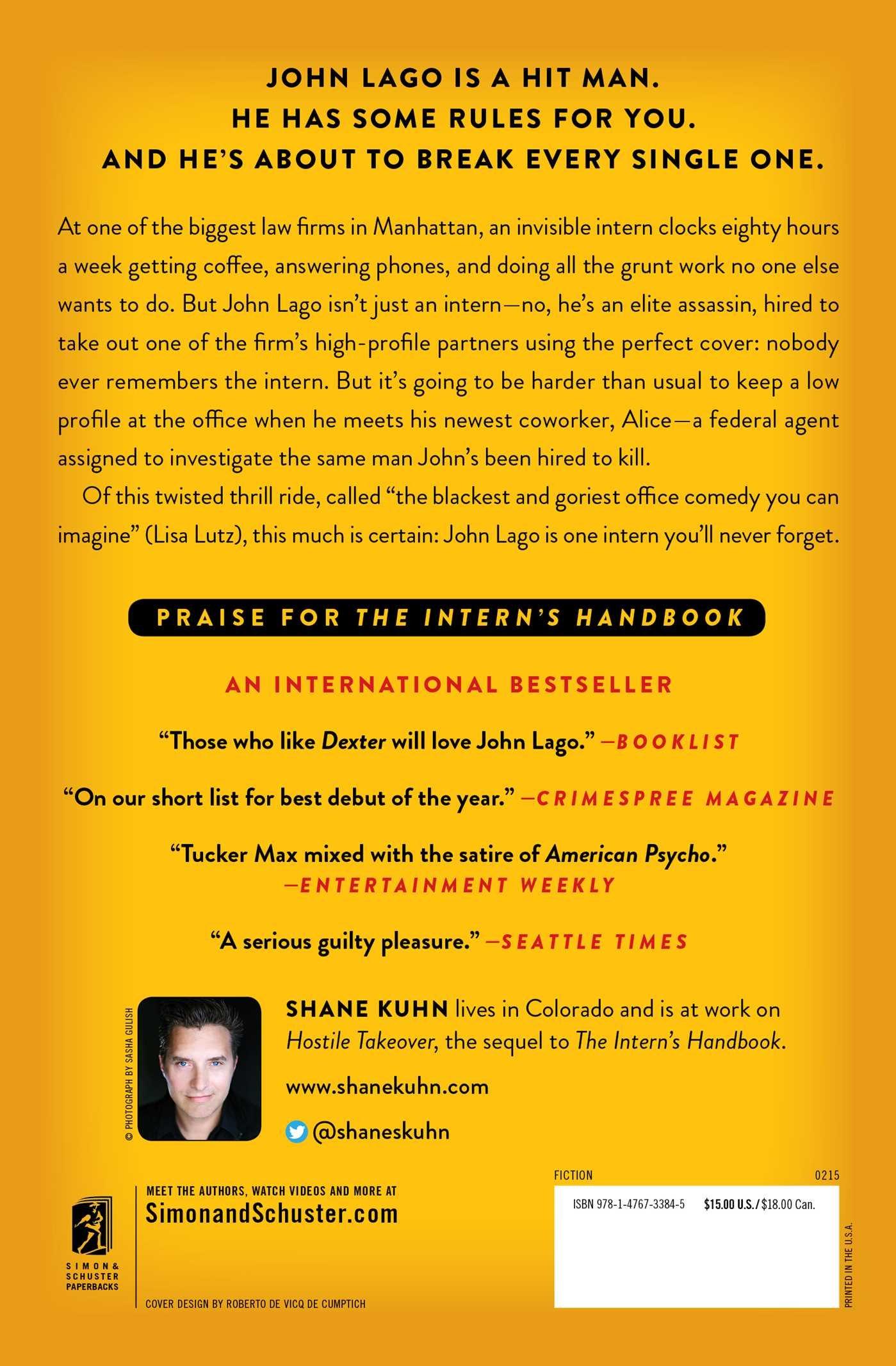 The Interns Handbook: A John Lago Thriller: Amazon.es ...
