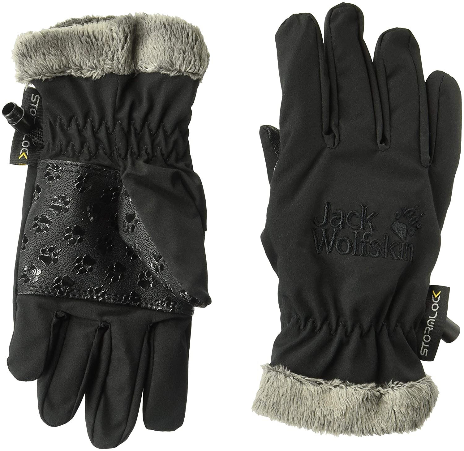 Jack Wolfskin Softshell High Loft Kids Windproof Insulated Softshell Gloves Jack Wolfskin Domestic