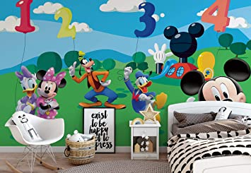 Wallsticker Warehouse Disney Micky Maus Fototapete - Tapete ...