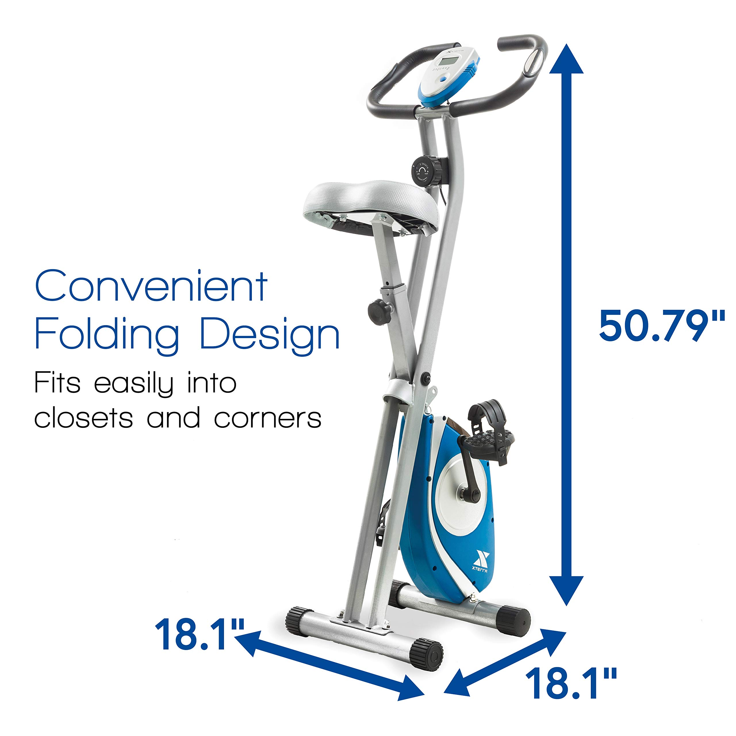 XTERRA Fitness FB150 Folding Exercise Bike, Silver by XTERRA Fitness (Image #4)