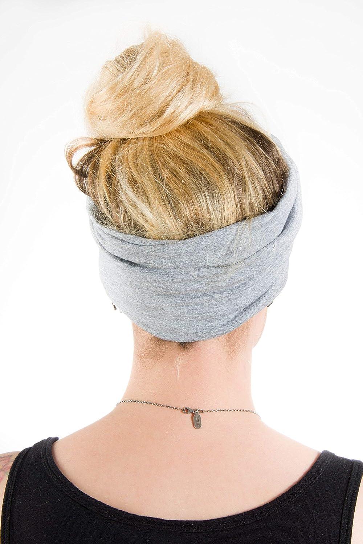 Twist Headband Extra Wide Scrunch Turban Heather Grey