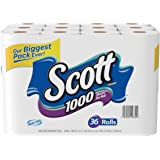 Scott 1000 Sheets Per Roll Toilet Paper,36 Rolls Bath Tissue