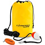 Compass Surf Sand Anchor Kit for Kayaks, Jet Skis, and Boats. Includes 15 feet of marine grade rope, buoy, stainless steel clip, and keychain float. Reinforced Seams for Durability.