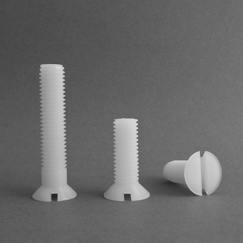 Isolierend Senkschraube mit Schlitz M2.5 20 St/ücke Polyamid PA6.6 Plastik Nylon L/änge L = 10 mm ajile Senkkopfschraube mit Schlitz
