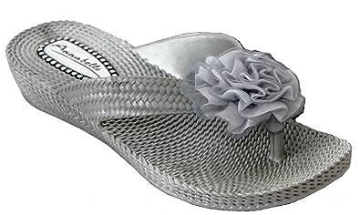 f39c9a700771 Womens Ladies Slip On Jelly Toe Post Beach Summer Mules Flip Flop Flat  Sandals Shoe Sizes
