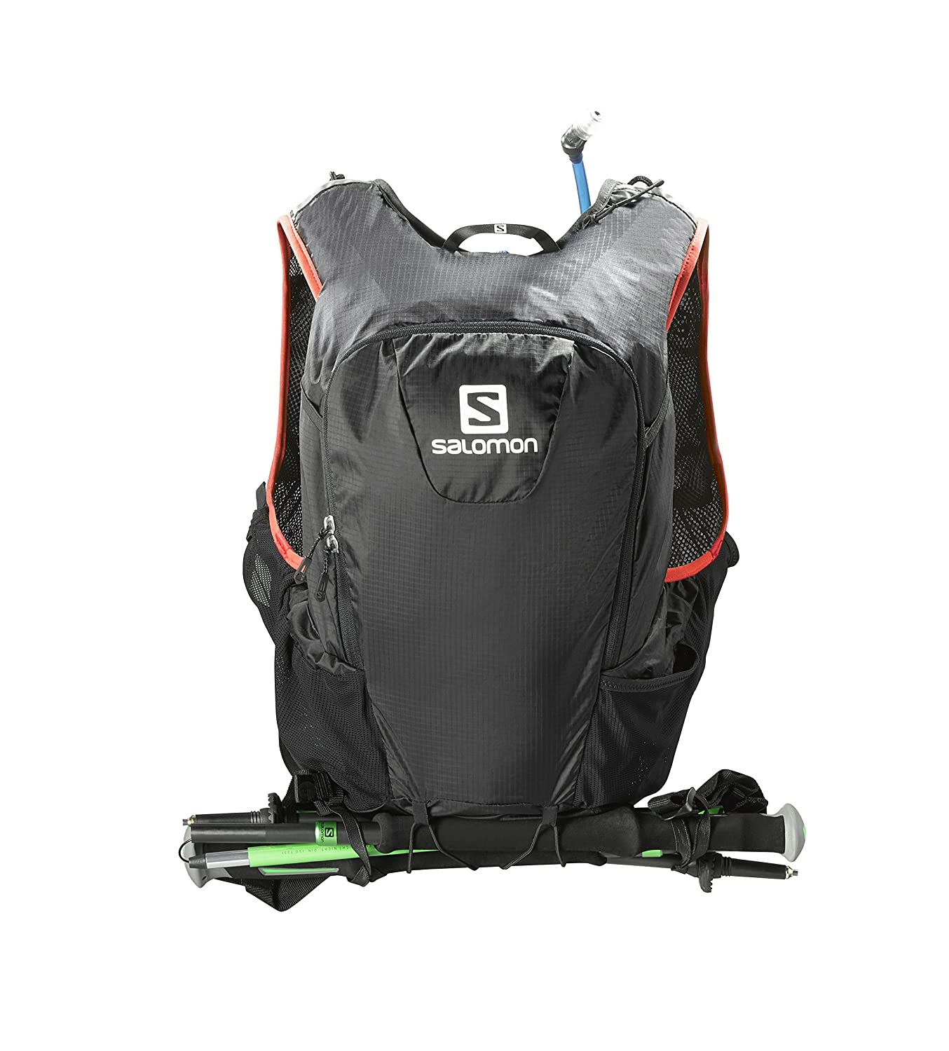 a4e4d2a3981 Amazon.com : Salomon Skin Pro 15 Set Backpack, Black/Bright Red : Sports &  Outdoors
