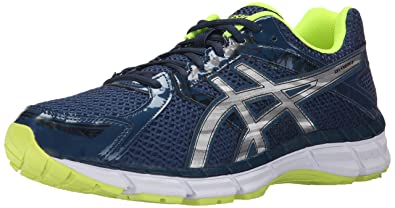 ASICS Men's Gel Excite 3 Running Shoe, Ink/Silver/Flash Yellow, 6