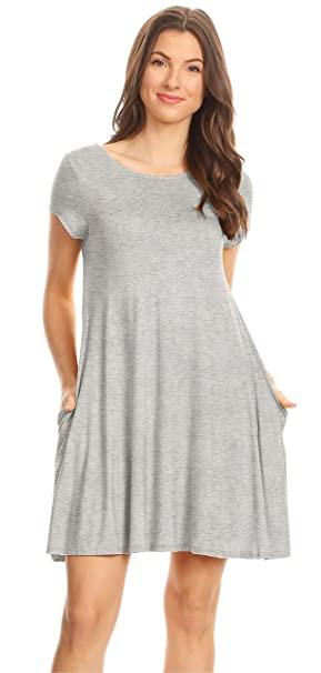 Heather Grey Summer Dress For Women Regular And Plus Size Dresses