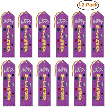 Amazon.com: Cinta de felicitación de cumpleaños (paquete de ...