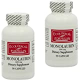 Ecological Formulas EFM-MNL90X2 Monolaurin 600 mg 90 Capsules (Pack of 2)