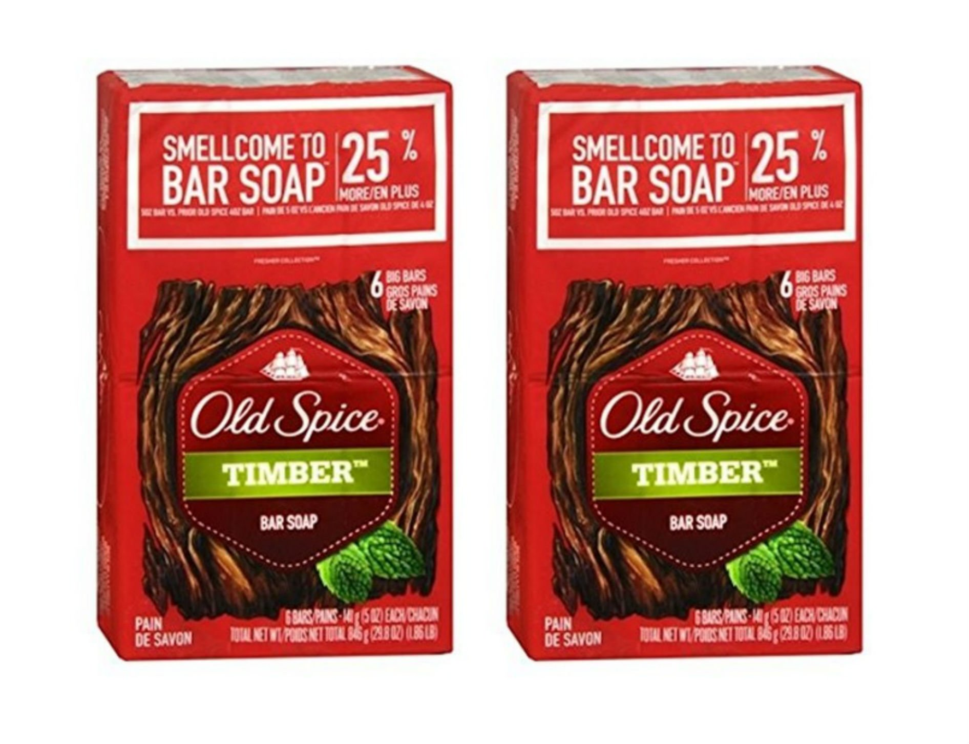 """Old Spice Bar Soap""""Timber"""" 12-Pack"""