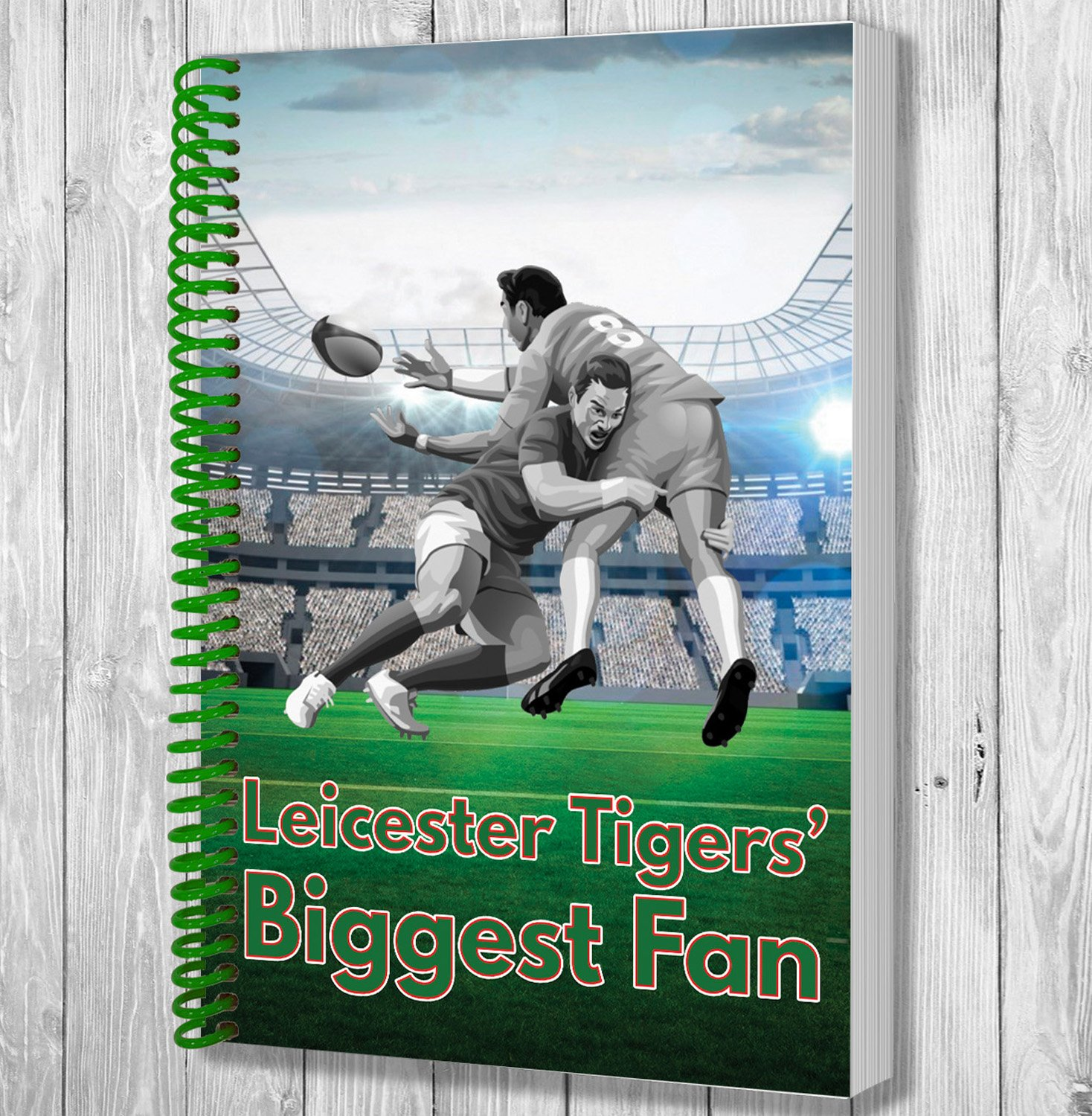 Leicester Tigers Biggest Fan A5 Rugby Notebook   Notepad   Drawing Pad