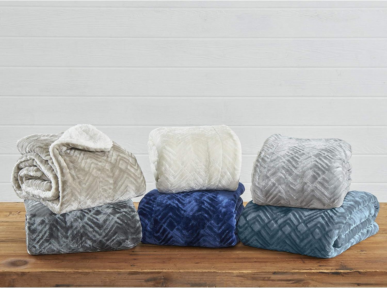 Home Fashion Designs Premium Reversible Two In One Sherpa And Fleece Velvet Plush Blanket Cozy All Season Berber Fleece Throw Blanket Buffalo Check Grey Fuzzy Throws