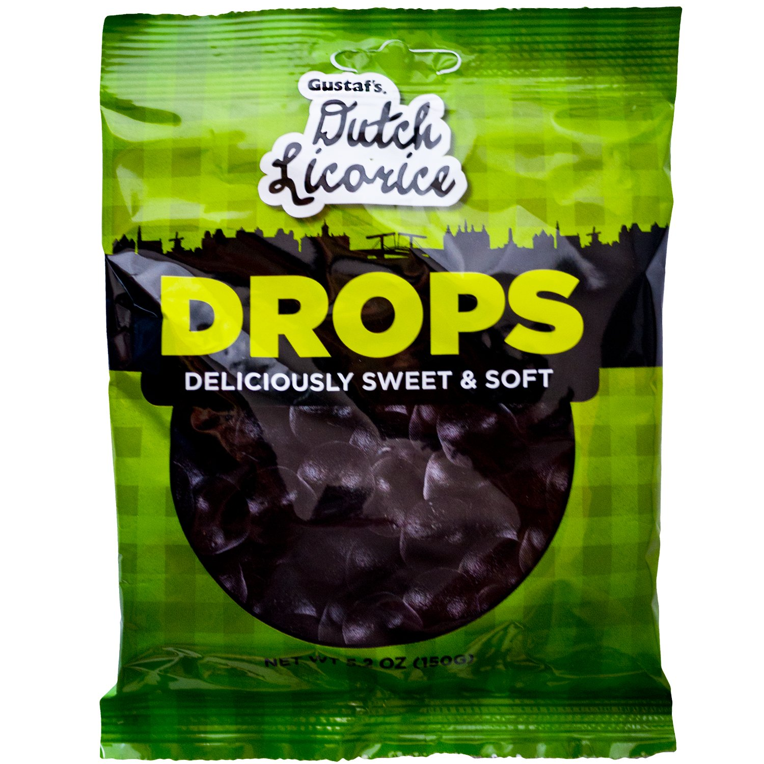 Gustaf's Dutch Licorice Drops, 5.2-Ounce Bags (Pack of 12)