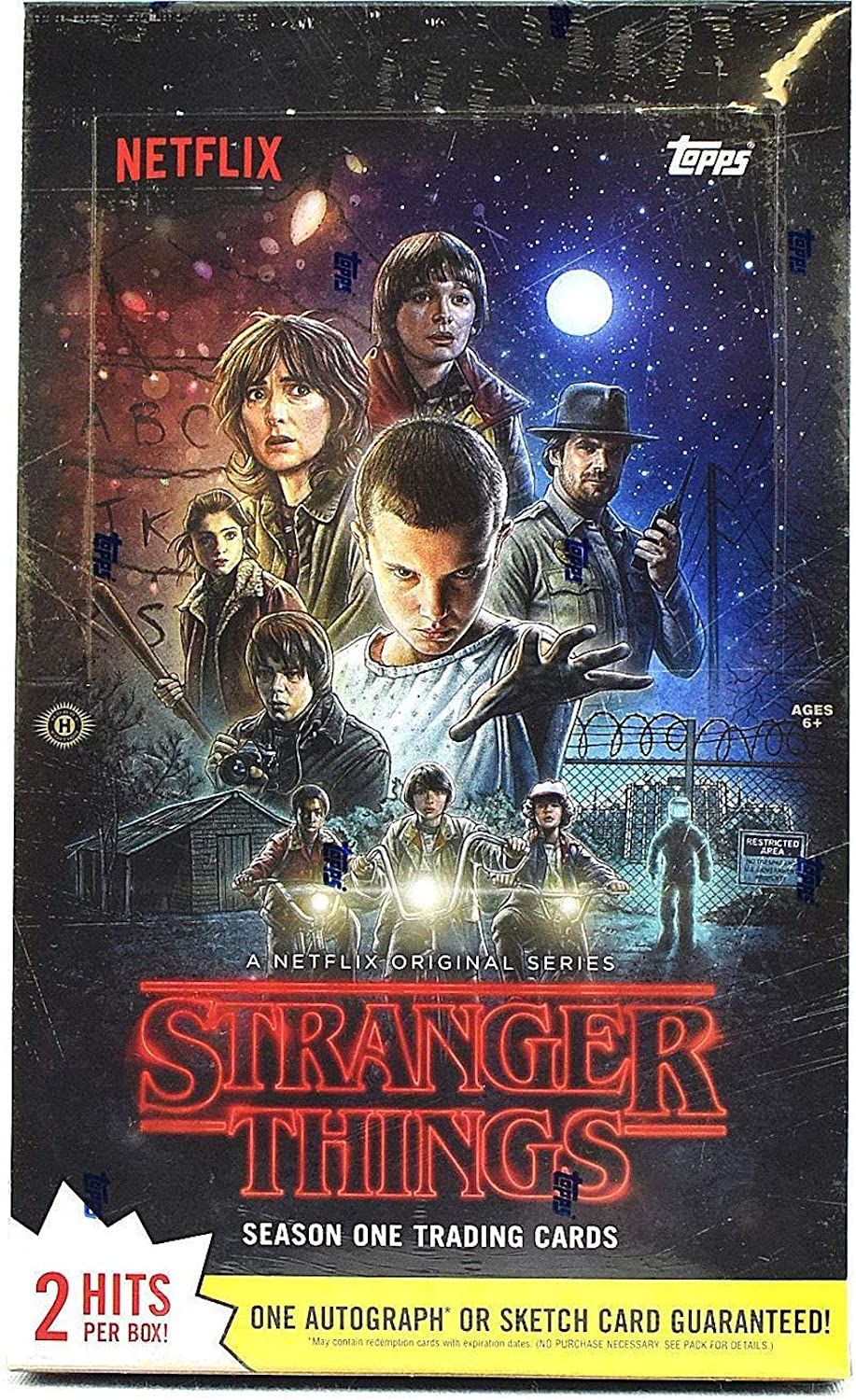 2018 Topps Stranger Things EXCLUSIVE Sealed Blaster Box 5 5 Patch RELIC
