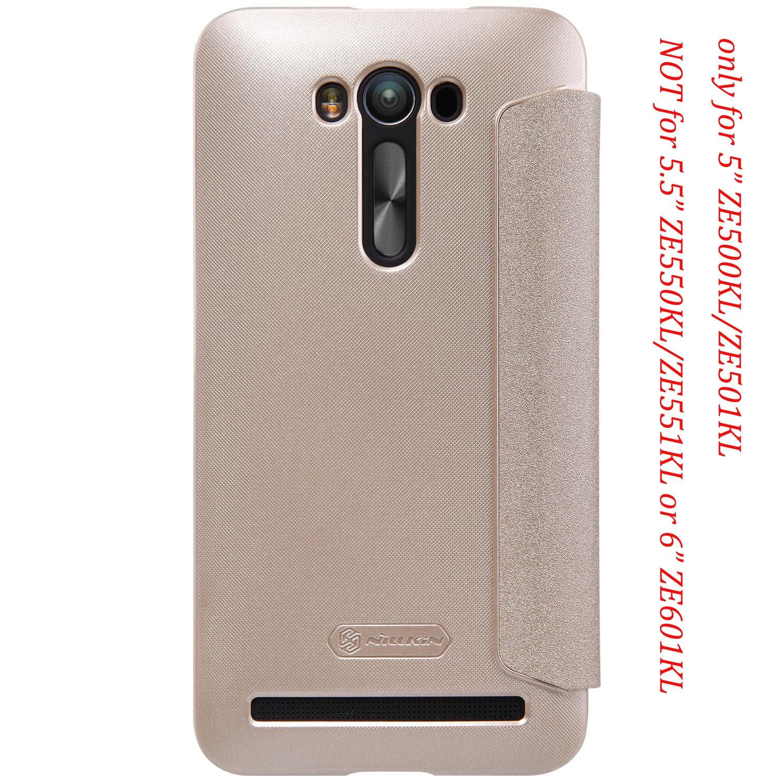 Asus Zenfone 2 Laser 5 Ze500kl Leather Flip Case Nillkin Sparkle Ze601kl Smart Sleep Pu Cover Not For 55 Ze550kl Ze551kl Or 6