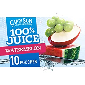 Capri Sun Watermelon Ready-to-Drink Juice (40 Pouches, 4 Boxes of 10)