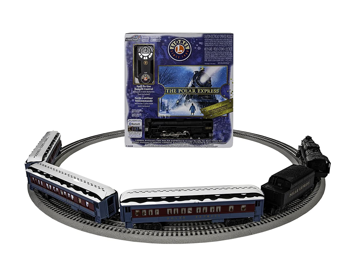 Lionel The Polar Express Lionchief Train Set With 022 Pair Of Ogauge Remote Controlled Switches Complete Bluetooth Toys Games