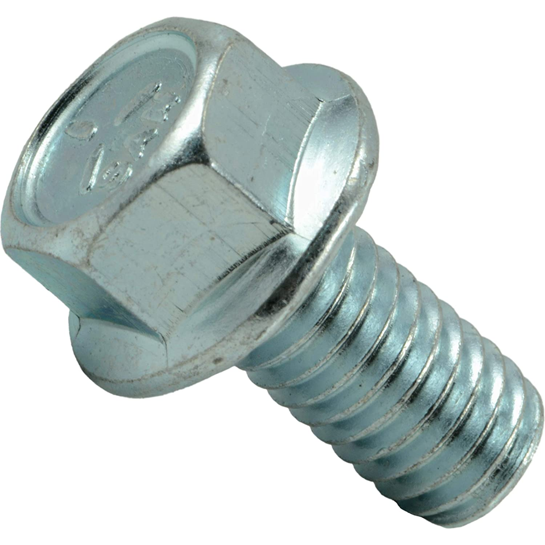 3//8-16 x 3//4 Piece-10 Hard-to-Find Fastener 014973454623 Serrated Flange Bolts
