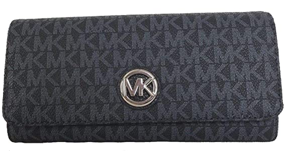 Michael Kors Geldbörse, 20x10x4 cm, Echtes Leder, FULTON, Damen, MK-Logo