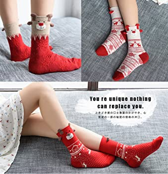 Ick Home Women Winter Knit Knee High Leg Warmers Boot Cover Xmas Reindeer Long Socks
