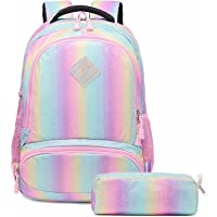 Mochila Escolar Niñas Mochila Arcoiris Chica Mochila Niño Mochilas Infantiles Rainbow Backpack Mujeres Sets de Bolsa 2…