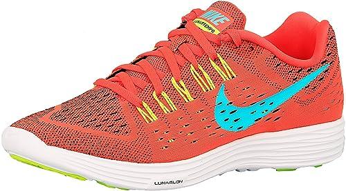best sneakers 76ba3 76791 Image Unavailable. Image not available for. Colour  Nike Women s Lunartempo  Bright Crimson Light Aqua-Volt-White ...