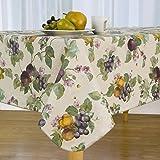 """Fresco Fruit Vinyl Tablecloth, 60""""X84"""" Oval"""