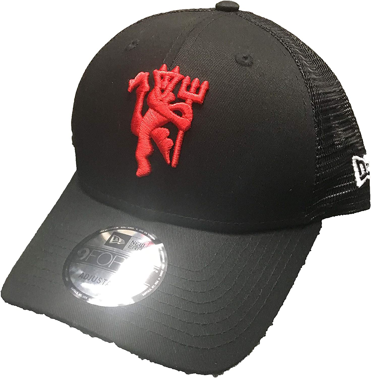 Manchester United Adult Adjustable Black Trucker Devil Hat At Amazon Women S Clothing Store