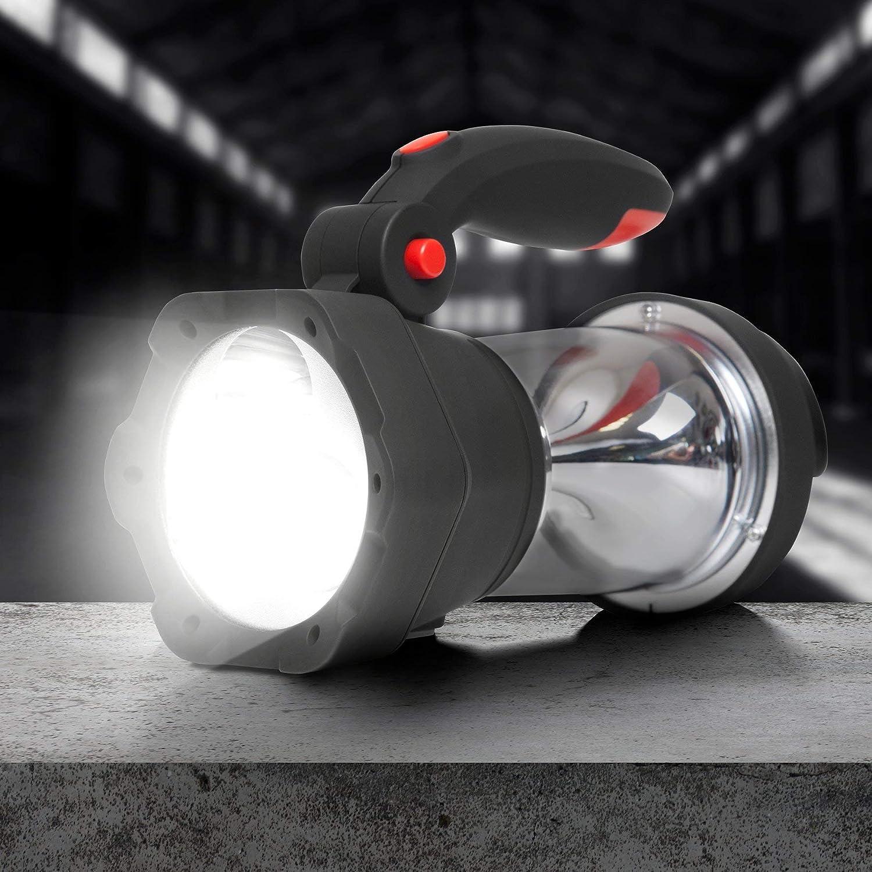 Lampe Torche Lanterne /à Dynamo//USB Lanterne /à 10 LED//Signal d/'Urgence Rouge Clignotant//Lampe Torche /à 3 LED Duronic Hurricane