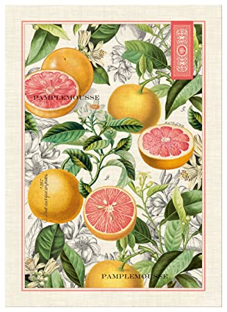 Michel Design Works Pink Grapefruit Cotton Kitchen Towel Multicolor Amazon In Home Kitchen