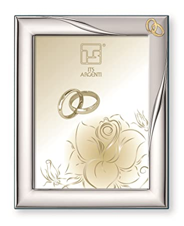 sterling silver picture frame anniversary interlocking gold rings 8