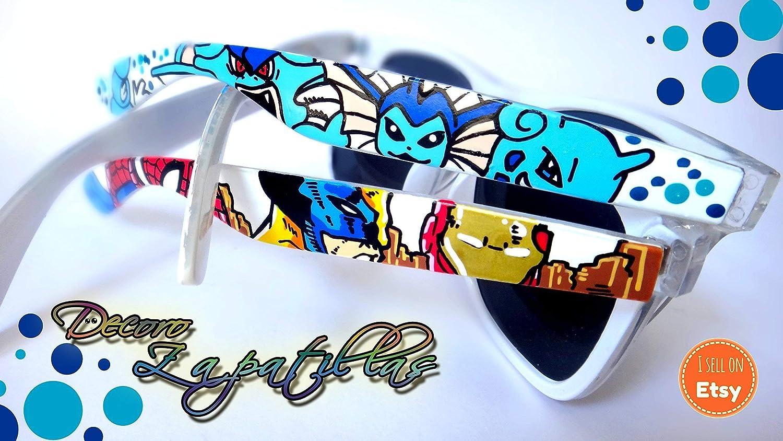 Gafas de sol personalizadas customizadas Retro pintadas a mano Super Mario. Zelda, Pokemon - regalos cumpleaños - regalos el - regalos ella - ...