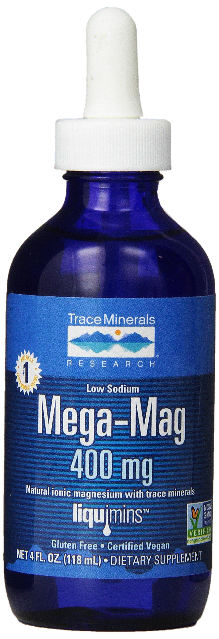 Trace Minerals Liquid Mega-Mag, 400 mg, 4 Ounce