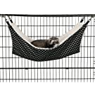 """ProSelect Wild Time Pet Cage Hammock – Black and White Polka Dot Design With Fleece Interior and Measuring 21"""" x 12.5"""""""