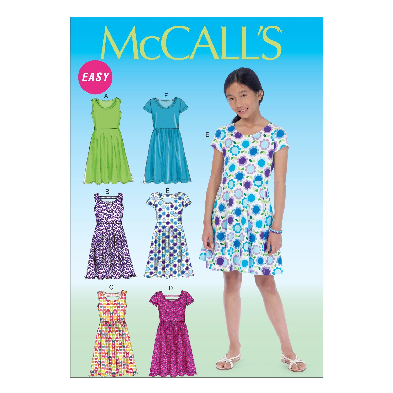 McCall Pattern Company M7079 Girls'/Girls' Plus Dresses, Size GRL M7079GRL
