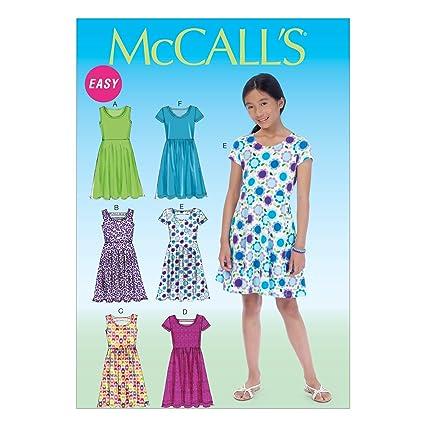 McCall's Patterns MC7079 Girls Plus Dresses,Sizes 7-8-10-12-14, GRL