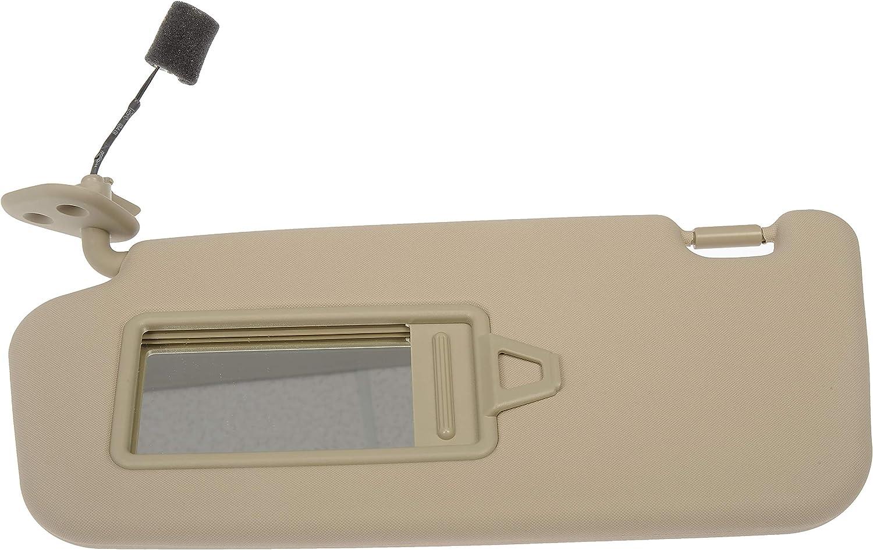 Dorman 74208 Drivers Side Sun Visor Assembly for Select Hyundai Models Beige