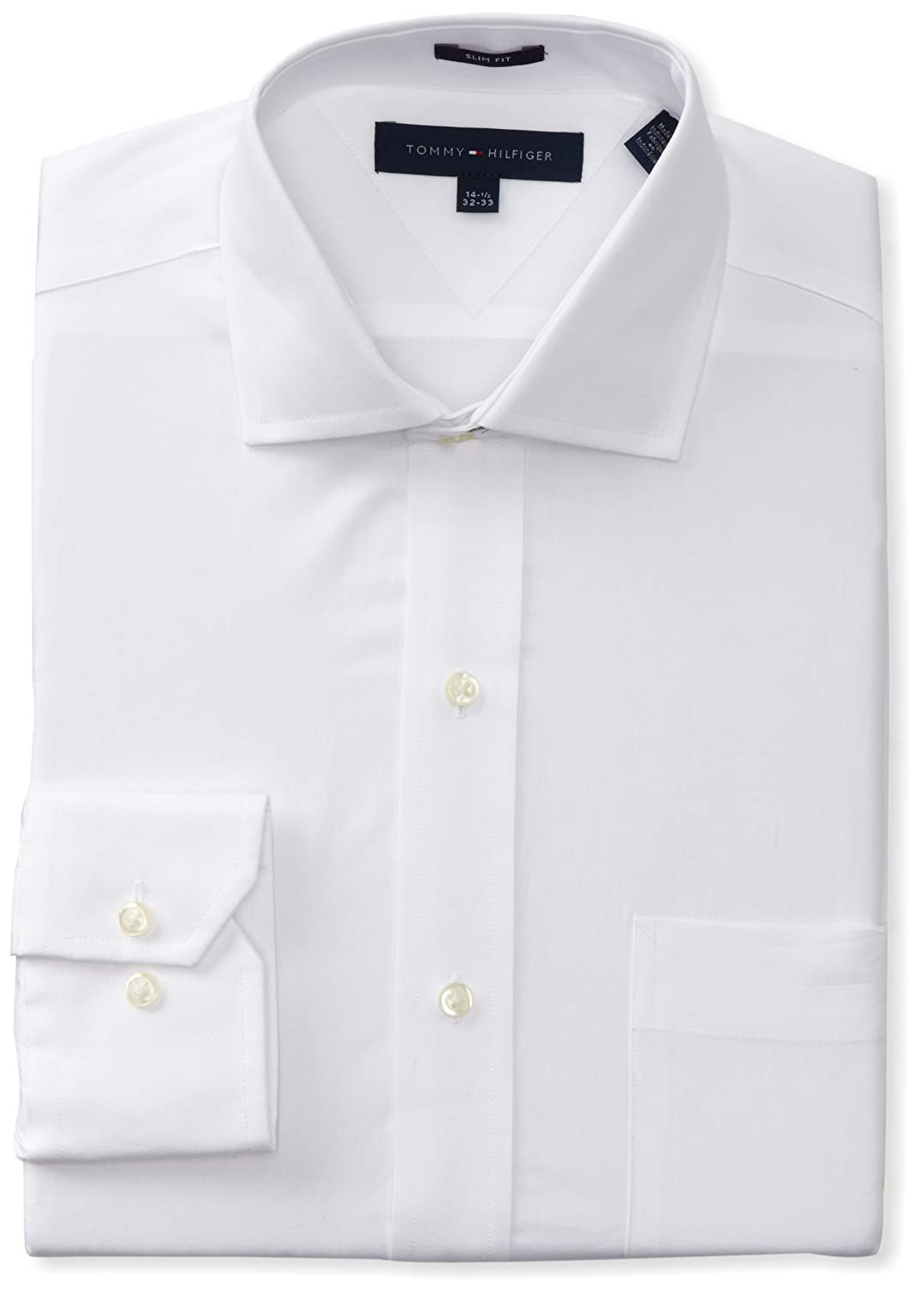 2 ply white dress shirts tommy