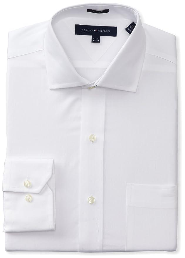 Tommy Hilfiger Men's Slim Fit Poplin Shirt at Amazon Men's ...
