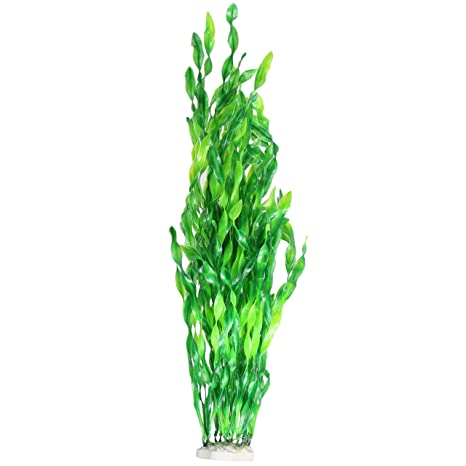 JDYW 52cm Plantas de Tanque de Peces Artificiales Grandes Plantas Acuáticas de Plástico Agua Falsa Hierba
