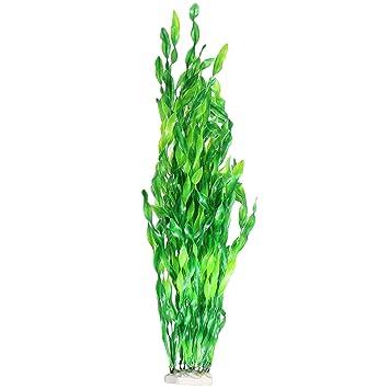 JDYW 52cm Plantas de Tanque de Peces Artificiales Grandes Plantas Acuáticas de Plástico Agua Falsa Hierba Acuario Decoraciones Ornamento 20.5 ...