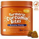 Zesty Paws Turmeric Curcumin for Dogs - Herbal Soft Chews with 95% Curcuminoids for Digestive + Immune Health…
