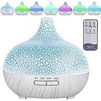 MAISITOO Humidificador ultrasónico y difusor de Aroma 550 ml.Ultra silencioso,Apagado Automático.Humidificador Aceites…