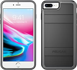 Pelican Protector C24000 for iPhone 6 Plus/6s Plus/7 Plus/8 Plus with Dual Layer Rugged Protection - Black/Light Grey.